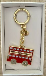 Michael  Kors Red  Bus Charm Key Ring New With Tags