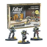 Fallout Wasteland Warfare Miniatures Unaligned T-51 Power Armor Brand New