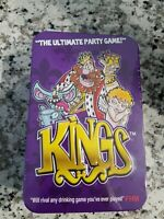 Kings Party Drinking Game Tin, Playing Cards, shot glasses with Instructions