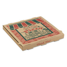 ARVCO Corrugated Pizza Boxes 16w x 16d x 1 3/4h Kraft 9164314