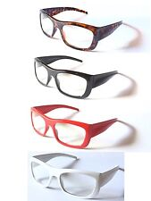 Y1249 Unisex Fashion Plain Optical Clear Lens Glasses UV400 Protected Sunglasses