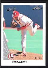 KEN DAYLEY 2012 LEAF MEMORIES 1990 BUY BACK SILVER #275 CARDINALS #01/20