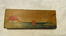 Vintage Magic Trick Secret Wooden Box Disappearing Coin-Japan