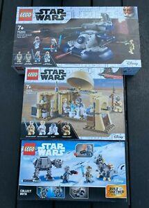 LEGO - STAR WARS SETS - 75298 75270 75283 - OBI WANS HUT -  AT AT - TANK ATT NEW