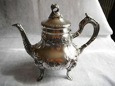 Grande verseuse théière en Argent Massif silver tea pot décor Louis XV