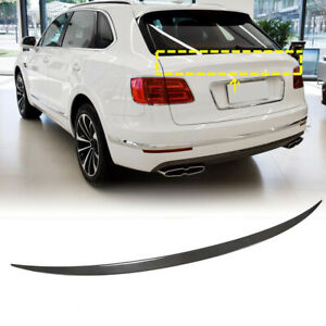 Dry Carbon Fiber Rear Trunk Middle Spoiler Wing For Bentley Bentayga SUV 16-19