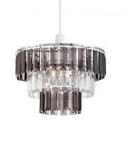 Modern 3 Tier Non Electric Acrylic Crystal Ceiling Light Lamp Shade Chandelier