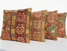 """Persianrug Pillows Hand Woven Embroidered Square Kelim Wool Area Rugs 18""""X18"""""""