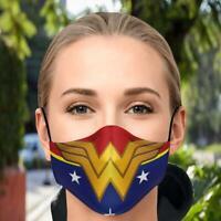 Wonder Woman Superhero Face Mask Three Layer Adjustable Face Mask
