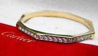 Cartier 18kt Yellow Gold & Diamond Bangle Bracelet, 2.50 Carats, Exceptional!