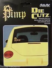 Gold Pimp with Crown Holographic Car Auto Window Decal - Free Shipping!