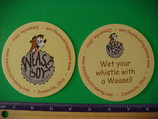 Beer Collectible Coaster ~ Weasel Boy Brewing Company ~ Zanesville, Ohio Brewery