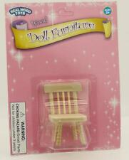 Real Wood Toys Dollhouse Miniature Unfinished Doll Furniture Side Chair NEW