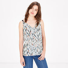BNWT Warehouse Zig Zag Ruffle Woven Front Evening Occasion Summer Top Size 16