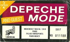 RARE / TICKET DE CONCERT - DEPECHE MODE : LIVE A PARIS ( FRANCE ) 1986