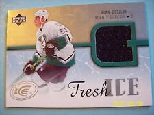 2005-06 Upperdeck Ice FI-RG Ryan Getzlaf Fresh Ice Rookie Jersey Card!
