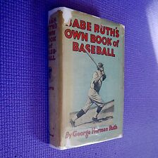 RARE TRUE FIRST EDITION IN DUST JACKET Babe Ruth's Own Book of Baseball VG / G+