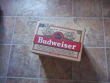 Vintage 1998 BUDWEISER BEER 20 BOTTLE BOX Anheiser Busch St. Louis Missouri Mo.