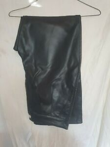 LADIES  TOP SHOP BLACK FAUX LEATHER TROUSERS NEW/TAGS SZ 10 39.00 TAGS