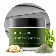 Activated Clay Face Masks - Ginseng Green Tea, Anti-Aging, Hydrating, Non Peel