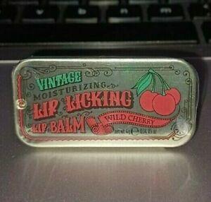 Vintage Moisturizing Lip Licking Lip Balm Wild Cherry Flavored Sealed