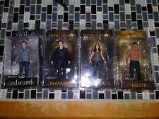 Twilight & New Moon Series action figure lot Edward Jacob & Bella Neca Reel Toys