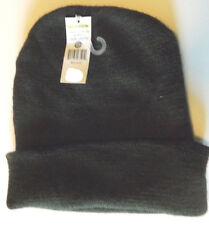 2 LOT ADULT BEANIE CAPS HAT HEAD SOCK SOLID OLIVE GREEN SCULL SEE MY OTHER ITEMS