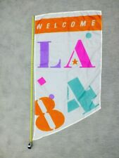 1984 Los Angeles LA Olympics Welcome Vintage Sports Memorabilia Flag Banner