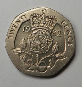 Great Britain 20 Pence 1982 Copper-Nickel KM#931 UNC
