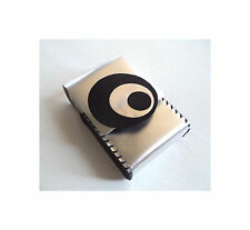 Silver Moon Silver Colored Leather Handmade Cigarette Case by Leatherpop