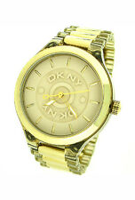 NEW DKNY GOLD TONE BRACELET 50M LADIES WATCH NY8168