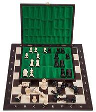 Pro Schach Set Nr. 5  - WENGE LUX - Schachbrett  & Schachfiguren STAUNTON 5