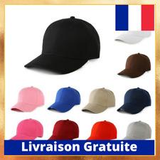 Casquette ajustable simple Baseball Cap Basecap unisexe Coton