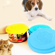 1 x Pet Food Can Cover Lid Cat Dog Tin Plastic Reusable Storage Cap Top 88mm .