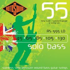 Rotosound RS555LD Linea Pressure Wound 5-String Bass Guitar Strings 45-130