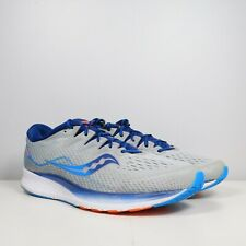 Saucony Ride ISO 2 Everun Gray Blue Men's Running Shoes Size 12.5  S20514-1