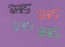 CONGRATULATIONS 6 diploma die cuts scrapbook cards