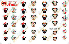 40pcs/Set Christmas Disney Mickey And Minnie Waterslide Nails Decals DCH-001-40