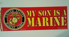 My Son Is A Marine Bumper Sticker   9""