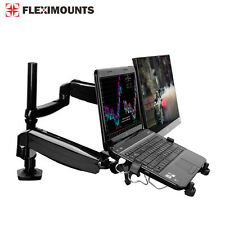 "10""-27"" Monitor Laptop Mount Dual LCD arms Desk Desktop Holder Stand Workstation"