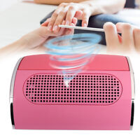 40W Nail Art Dust Collector Suction 3 Fan Vacuum Cleaner Manicure Machine W/ Bag
