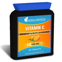 Vitamin C With Rosehip & BioFlavonoids 1000mg BioAvailable Absorb More