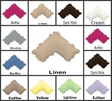 Ruffled U Shape Tri  Boomerang Pillowcase 280TC Poly Cotton Free Post Brand New