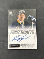 2013-14 PANINI PLAYBOOK ZEMGUS GIRGENSONS ROOKIE FIRST DRAFTS AUTO #FD-ZG