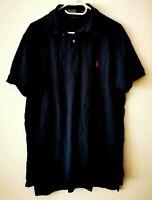 POLO by RALPH LAUREN Kurzarm T-Shirt Blau Poloshirt Custom Fit  Gr. L   #LRM421