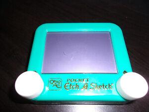 2 Pocket Etch A Sketch Toys Ohio Art Green Pink 1K0596 1K0696