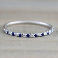 Fashion Zircon microscope Ruby and sapphire Eternity Wedding Ring  Jewelry 6-10