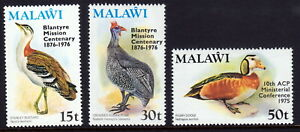 Malawi 1975 and 1976 Overprints on Bird Definitives MH