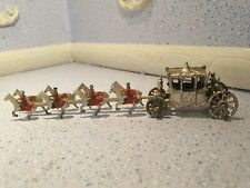 doll house furniture vintage metal coronation horse and coach orniment 1.12th