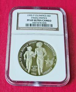 1995 PF69 Atlanta Olympics Paralympics proof silver commemorative-NGC